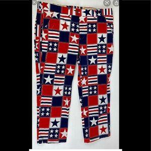 Loud Mouth Patriotic Golf Pants 34x32